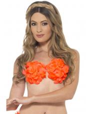 Hawaii Bloemen Bh Neon Oranje