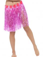 Hawaii Hula Skirt met Bloemen Roze
