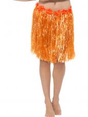Hawaii Hula Skirt met Bloemen Oranje