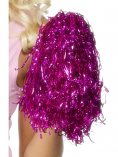 Pom Poms Metallic Pink