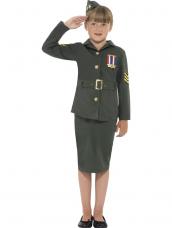 WW2 Army Girl Kostuum