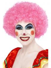 Crazy Clown Pruik Roze