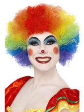 Crazy Clown Pruik Multi-Gekleurd