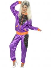 Retro Shell Suit Dames Kostuum