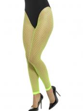 Footless Net Tights Neon Groen