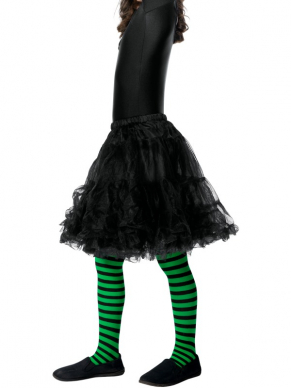 Wicked Witch Panty, Child Groen/Zwart