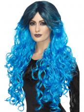 Gothic Glamour Pruik blauw