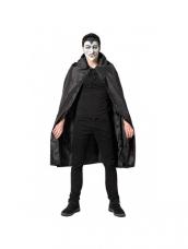 Dracula Hooded Cape Velours Black