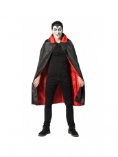 Dracula Cape Zwart/Rood