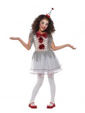 Vintage Clown Girl Kostuum