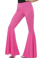 Roze Flared Trousers, Ladies