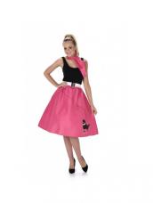 Dark Pink Doodle Skirt & Necktie