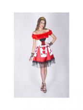 Flirty Queen of Hearts Kostuum