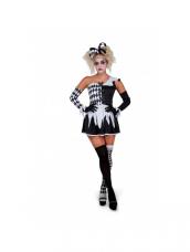Evil Harlequin Girl Kostuum