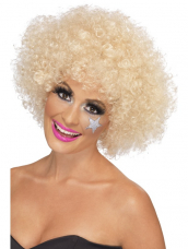 70's Funky Afro Pruik Blond