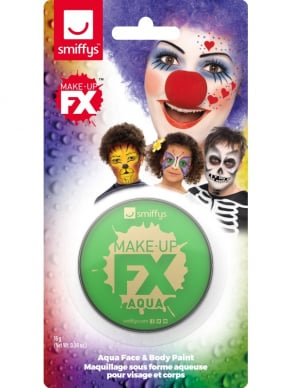 Groene Smiffys Make-Up FX, Aqua Face and Body Paint, 16ml op waterbasis