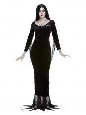 Addams Family Morticia Jurk, Zwart