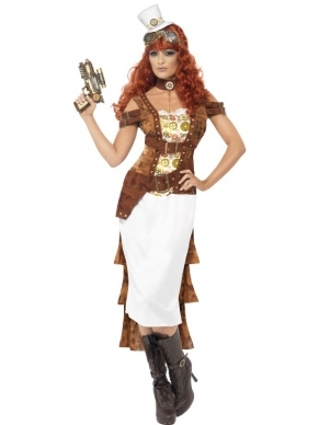 Steam Punk Wild West Agent Dames Kostuum