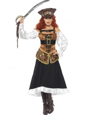 Steam Punk Piraat Dames Verkleedkleding