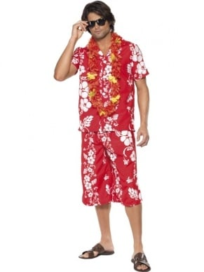 Hawaiian Hunk Hawaii Heren Kostuum