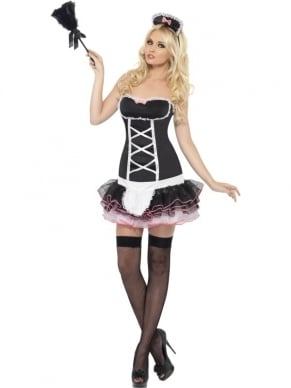 Fever French Maid Dienstmeisje Verkleedkostuum