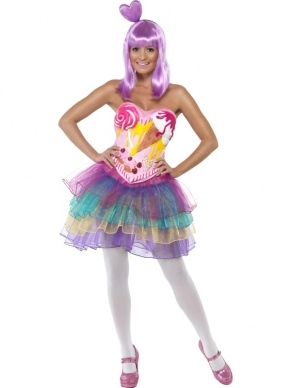 Candy Queen Katy Perry Dames Verkleedkleding