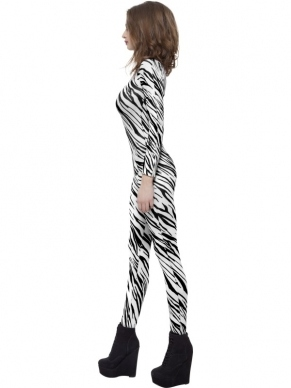 Zebra Print Bodysuit. Deze bodysuit is 1 maat is past XS tot Medium.
