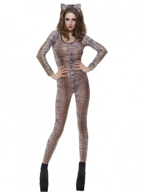 Tijger Print Bodysuit. Deze bodysuit is 1 maat is past XS tot Medium.