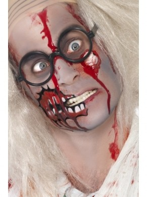 Zombie Make Up Set met Latex Oogbal en Bloed