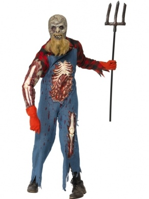 Hillbilly Zombie Heren Halloween Kostuum