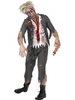 High School Horror Zombie School Boy Kostuum