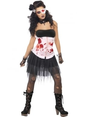 Bleeding Beauty Halloween Horror Dames Kostuum