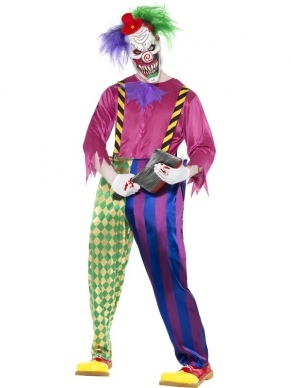 Killer Clown Horror Heren Kostuum