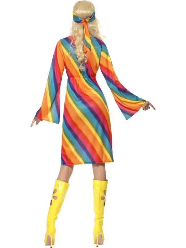Regenboog Hippie Dames Kostuum snel thuis bezorgd!