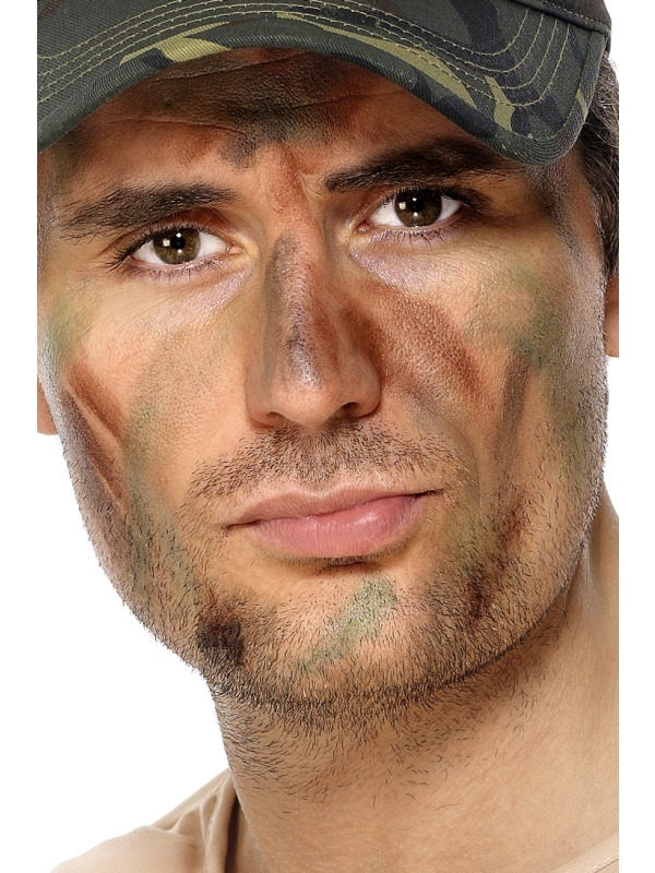 Army Leger Camouflage Make Up Schmink set met Sponsje.