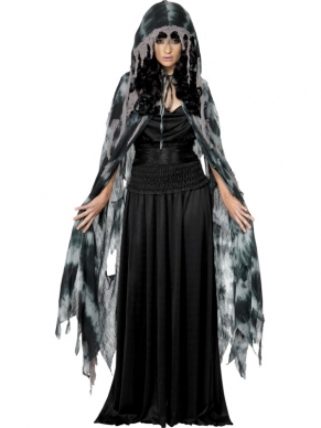 Gothic Manor Ghost Halloween Cape