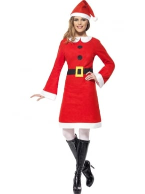 Miss Santa Fleece Jurk