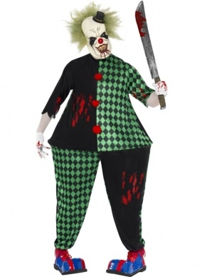 Scary Fat Clown Heren Verkleedkleding