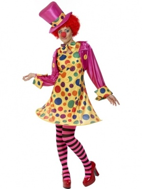 Polka Dot Clown Dames Kostuum