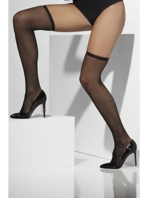 Zwarte Fishnet Hold-Ups