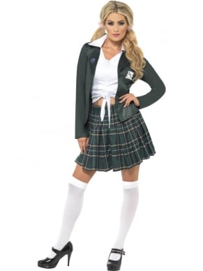 Preppy School Girl Kostuum